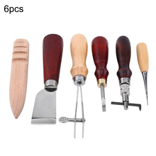 6PCS Leather Craft Tool Sewing Tools Kit DIY Hand Stitching for Canvas
