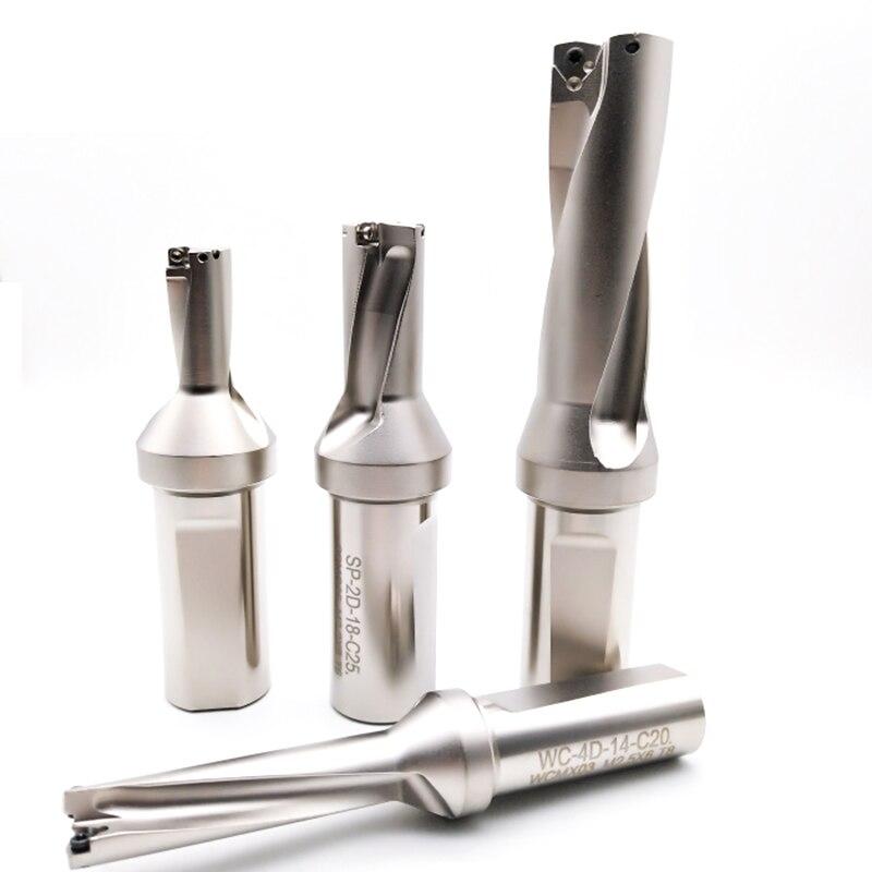 3 Double perceuse rapide WCMT03 04 Insert WC14mm-WC23.5mm U forage trou peu profond, forets indexables, u forets pour tour à CNC