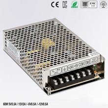 цена на quad output power supply 60W 5V 12V -5V -12V power suply Q-60B  Amultiple output ac/dc power supply