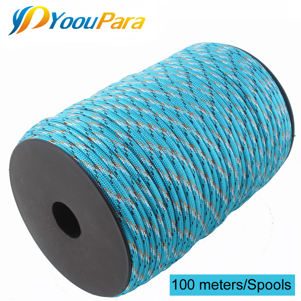 Yooupara 4mm Rope Parachute-Cord Spools 100-Meters Climbing Tactical Strands Outdoor