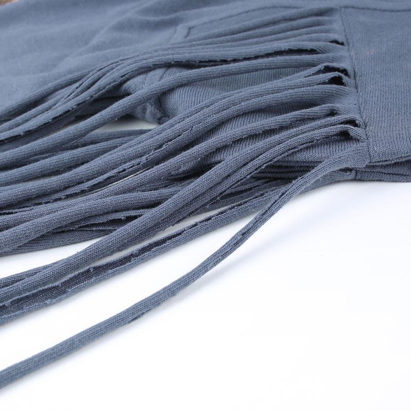 Lâche Nouveauté shirts Imprimer Blue Carré Style D'été Punk Femmes Coton Magasin Grey Gland Occasionnel Jessica T De Col Personnalité 4axwY6w
