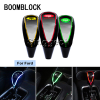 BOOMBLOCK Auto Gear Shift Knob Touch Sensor Colourful LED Light 5/6 Speed For Ford Focus 2 3 1 Fiesta Mondeo Kuba Ecosport