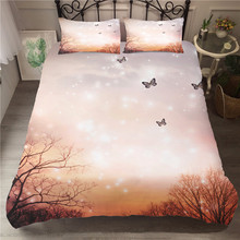A Bedding Set 3D Printed Duvet Cover Bed Butterfly Home Textiles for Adults Bedclothes with Pillowcase #HD07