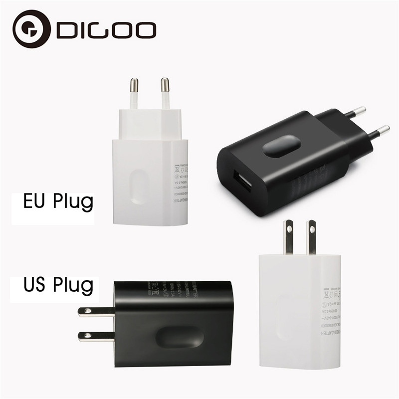 Digoo DG-XED Universal USB Charger US EU Power Adapater 5V 2A Supply Home Wall Travel Charger Adapter For IP Camera Phone