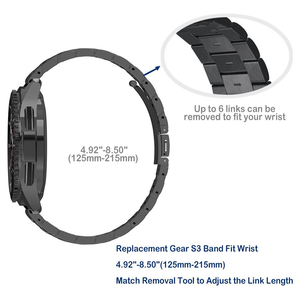 LEONIDAS 22mm Stainless Steel Strap For Samsung Gear S3 Band Replacement Wristbands For Gear S3 Classic frontier Smart watch