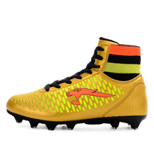 High Top Soccer Cleats Men Shoes Leather Soccer Boys Football Boots High Ankle Cheap 2016 Men High Ankle Original Football Boot