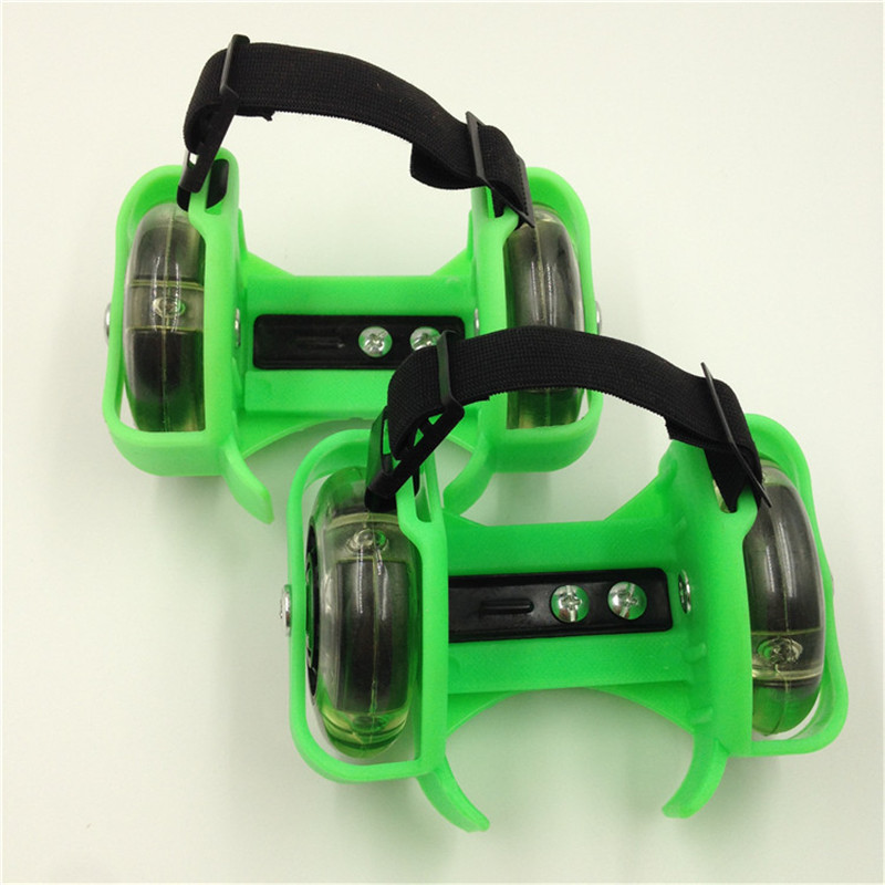 Bambini Ruota Rullo di Tacco Pattini LED Lampeggiante Luce Regolabile Hot Wheels di Sport Colorato Piccolo Vortice Puleggia Della Cinghia di IA32