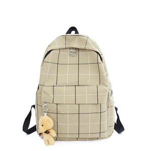 Image 4 - صغيرة الطازجة منقوشة قماش السيدات على ظهره موضة جديدة عالية الجودة حقيبة طالب حقيبة السفر البرية سعة كبيرة