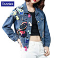 Patch Design&Tasel Women Jackets Coat New Women'S Butterfly Embroidery Short Denim Jacket Vintage Autumn Brand Chaquetas Mujer