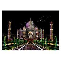 40,5*28,5 см известный вид ночного города тема DIY креативная нарисованная картина ручной работы Скрап рисунок бумажные игрушки для детей подаро...