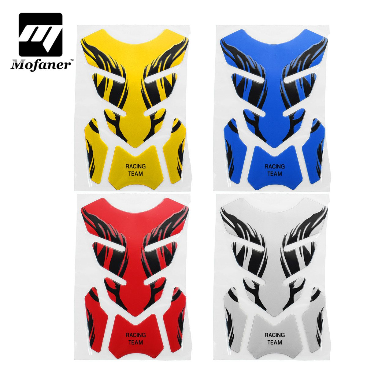 Mofaner Waterproor Motorcycle Gas Tank Sticker Motorbike Fuel Oil Tank Pad Decal Sticker Protector Cover For Kawasaki For Honda image