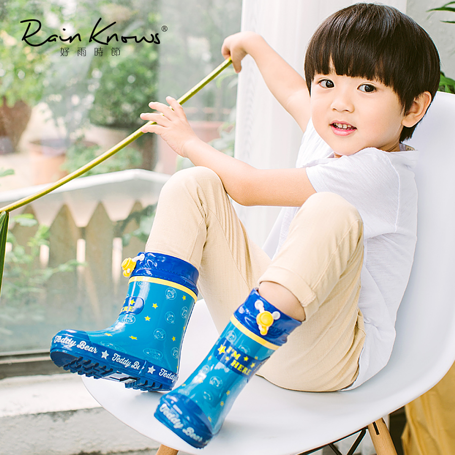 Kids Rain Boots Girls Boys children shoes Rainboots Loverly Waterproof Overshoes Flat Water Shoes Rubber Student Shoes Outdoor стоимость