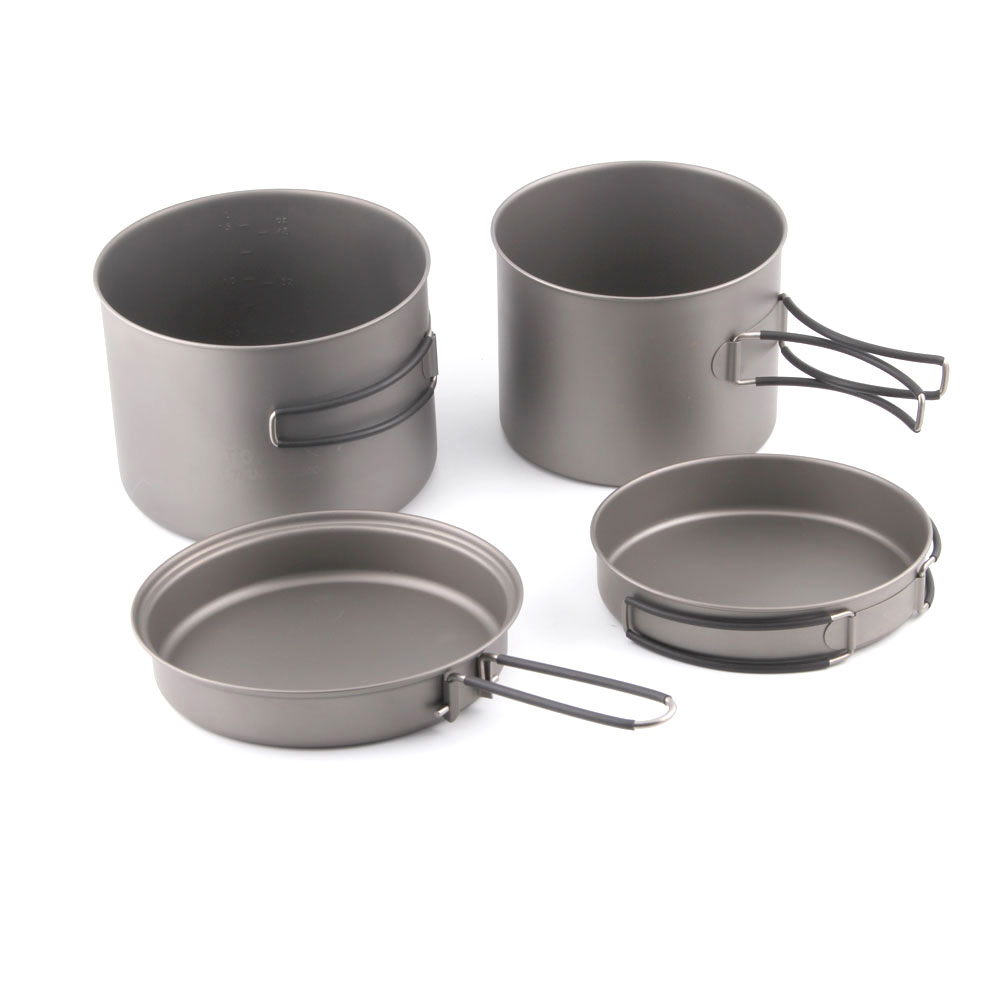 TOAKS CMB-1600-1300 Titanium 1600ml Pot and 1300ml Pot Combo Set videovox cmb 100