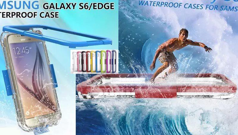 imágenes para Ipx68 subacuática impermeable natación buceo caja case para samsung galaxy s6 cubierta a prueba de agua para galaxy s6 edge