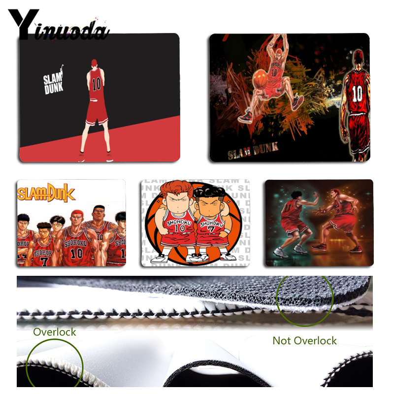 Yinuoda Your Own Mats Basketball Slam Dunk Gamer Play Mats Mousepad Size For 180x220x2mm And 250x290x2mm Rubber Mousemats