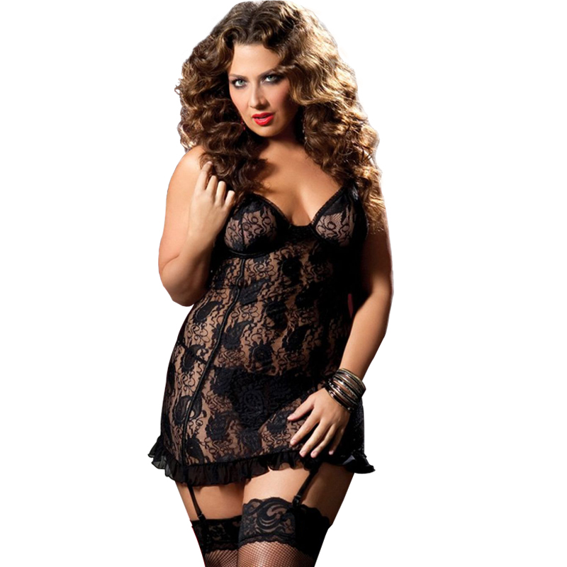 6XL Sous Vetement Femme Sexy Transparent Sexy Lingerie Lady Perspective Lure Pajamas Women Underwear Calcinha Sexy Plus plus size women in leather