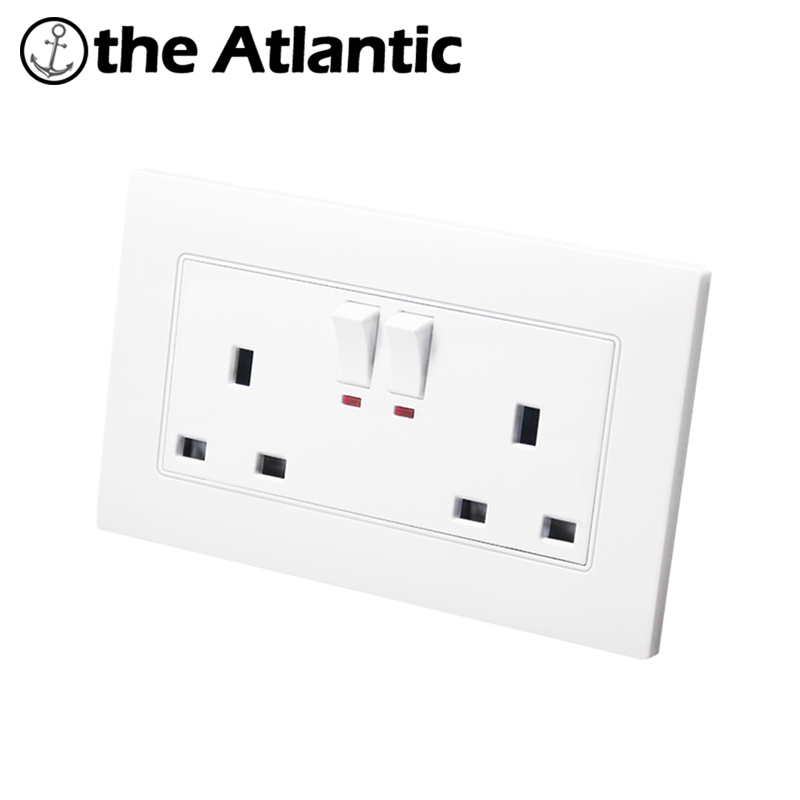 British Two Socket Electric Wall Switch Socket With Switch Hong Kong ...