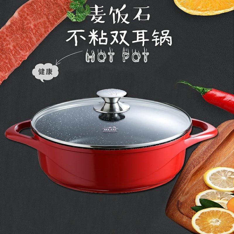 Chinois anti-adhésif médical pierre mandarine canard deux-saveur chaud pot réchaud braisé induction cuisinière réchaud plat soupe poêle fondue