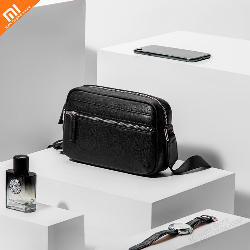 xiaomi mijia high quality light simple leather shoulder bag Messenger bag light fashion men s bag