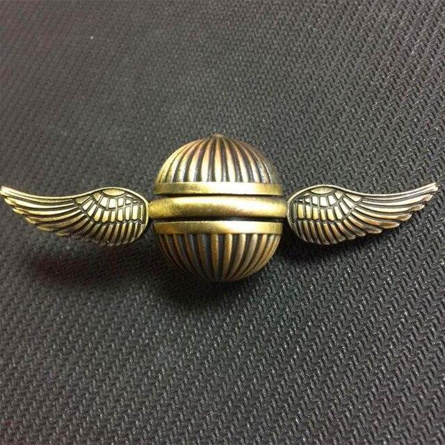 Спиннер-Спиннер из радуги Гарри Снитч, металлический медный Купидон Ангел, игрушка для декомпрессии, гироскоп