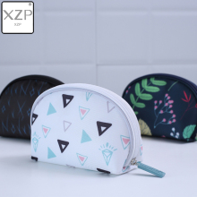 XZP Geometry Cosmetic Bag Travel Case Portable Waterproof Wash Makeup Bag Kids Pencil Case Student Pen Pouch Organizer Holder