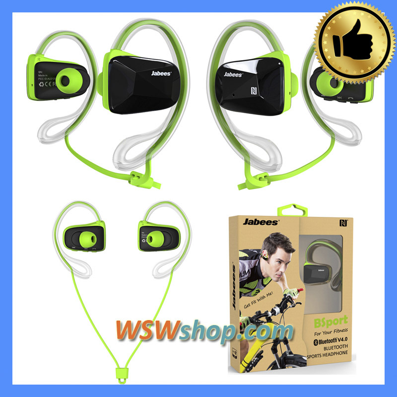 ФОТО 100% Genuine Jabees Wireless Bluetooth Headset Jabees Bsport In-Ear Headphones Earbuds Bluetooth V4.1 CSR Dual Mic Voice Prompt