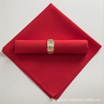 Marious Top sale wedding 100pcs polyester table napkin plain for hotel  free shipping