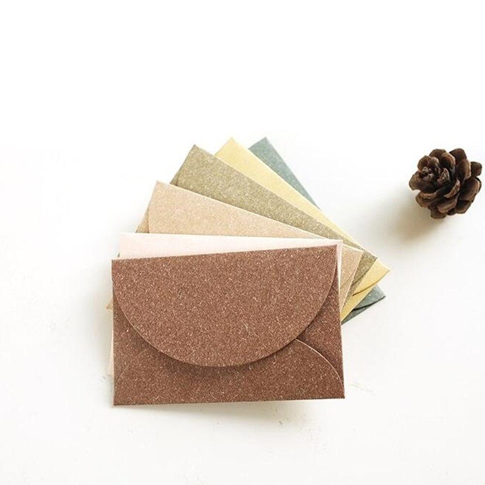 New 100PCS/Lot Vintage Romantic Mini Paper Envelope DIY Gift Envelope Message Card Holder Office & School Supplies Random Color