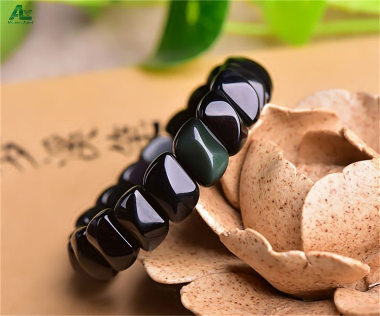 women obsidian bracelet (2)