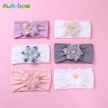 Повязка на голову для девочек младенческой аксессуары для волос одежда группа цветок новорожденных цветочный головные уборы тиара headwrap hairband подарок малыши