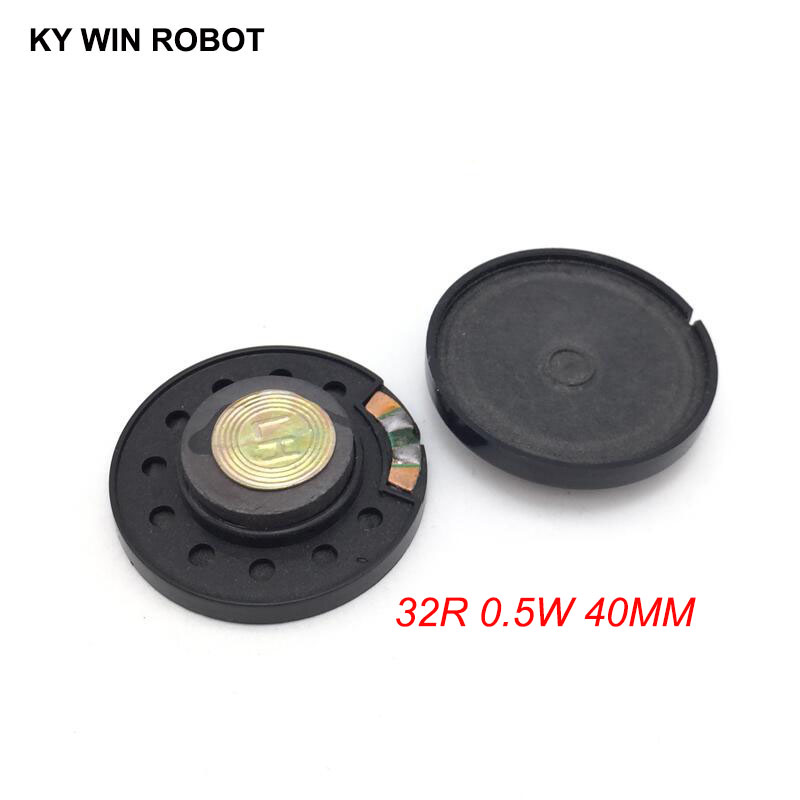 2pcs New Ultra-thin Speaker Doorbell Horn Toy-car Horn 32 Ohms 0.5 Watt 0.5W 32R Speaker Diameter 40MM 4CM Thickness 10MM