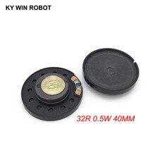2pcs New Ultra-thin speaker Doorbell horn Toy-car 32 ohms 0.5 watt 0.5W 32R Diameter 40MM 4CM thickness 10MM