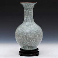 Jingdezhen ceramics antique vase vases crack glaze kiln complex classical decoration decoration Home Furnishing