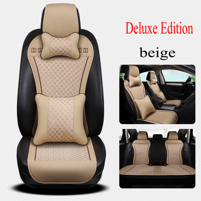 Kalaisike leather Universal Car Seat covers for Isuzu all models D-MAX mu-X 5 seats car styling auto accessories breathable car seat covers for acura all models mdx rdx zdx rl tl ilx tlx cdx car accessories auto sticker car styling