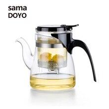 Samadoyo High Borosilicate Glass Teapot Infuser 600ML Elegant Pot Blooming Flower font b Tea b font
