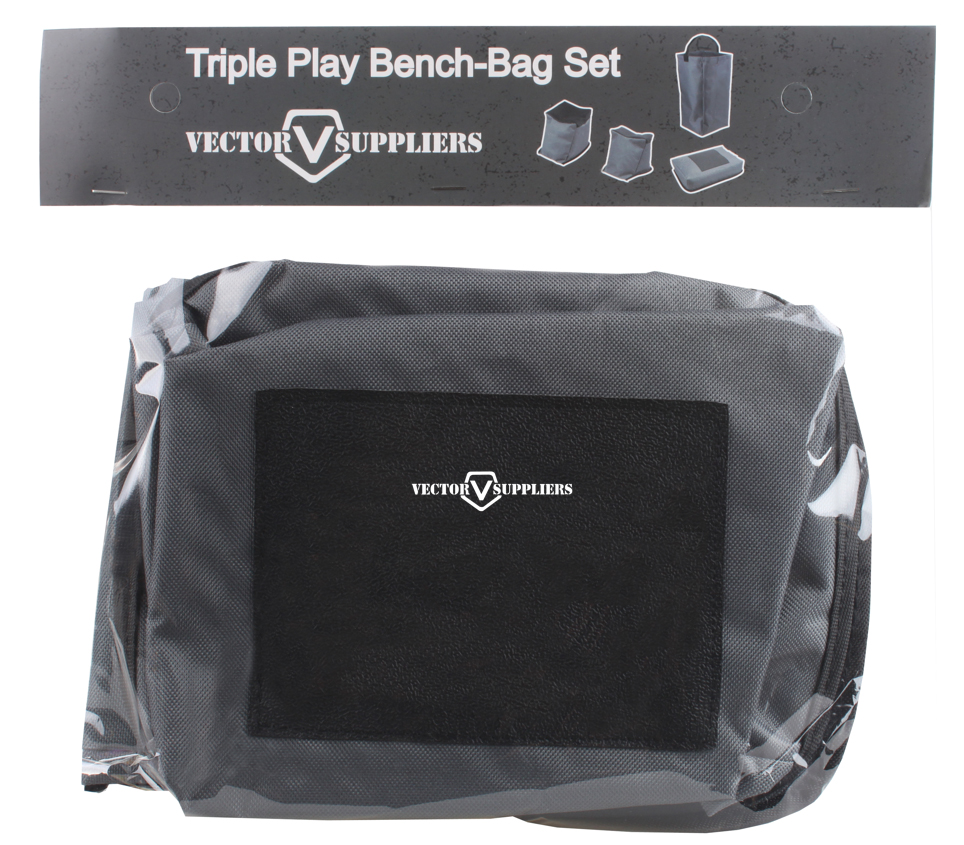 US $29 0 |Vector Suppliers Triple Play Shooting Rest Bag Bench Unfilled Set  4 Pcs Pack Polyeste Gun Shooting Front and Rear Benchrest Set-in Scope