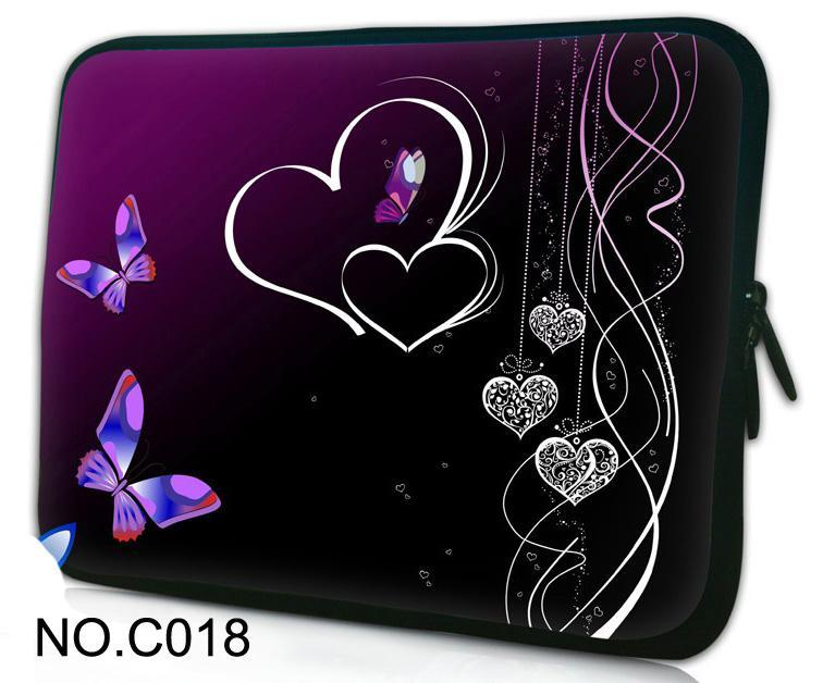 Hot Purple Hearts 10.1 11.6 12 13.3 14 15 15.6 Laptop Bag Sleeve Case for HP Dell Sony Acer ASUS Lenovo ThinkPad Apple