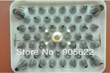Polymer clay Nozzle Stainless steel seamless 52 decorating nozzle seamless set baking tools with 2pcs nail