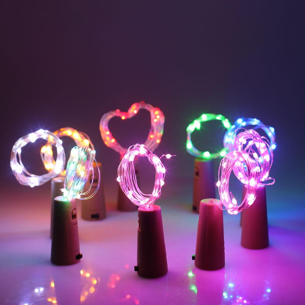 1M 10LED LED Cork Shaped Bottle Stopper Light Glass Wine LED Copper Wire String Lights For Christmas Lights Party Wedding