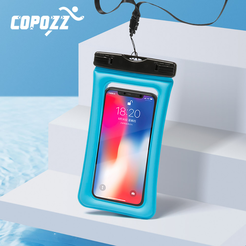 COPOZZ Beach Waterproof Phone Case Cover Touchscreen Floating Aribag Dry Diving Bag Pouch For IPhone Xiaomi Samsung Meizu