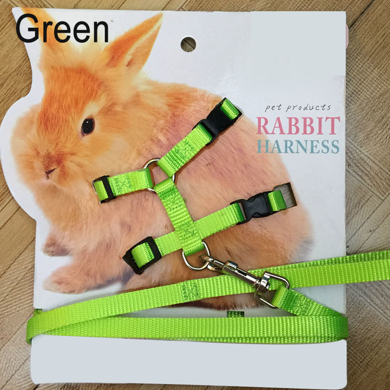 Pet Rabbit Soft Harness Leash Adjustable Bunny Traction Rope For Running Walking Lbshipping