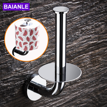 Toilet Paper Holder Creative Stainless Steel Paper Towel Holder Rack Decorative Wall Mounted Bathroom Roll Paper Holder
