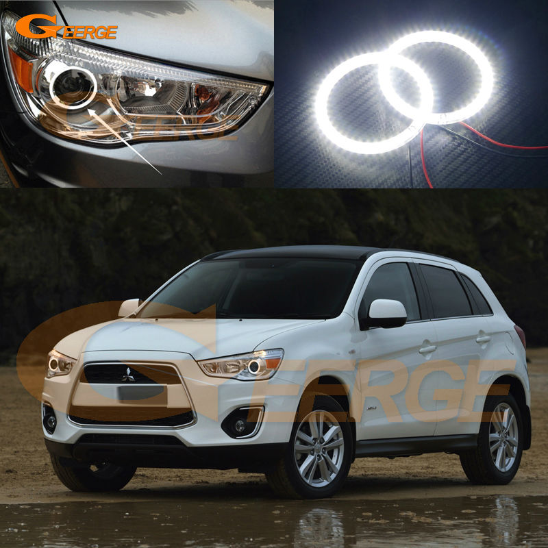 For Mitsubishi ASX 2010 2011 2012 2013 2014 2015 2016 Excellent led Angel Eyes Ultra bright illumination smd led Angel Eyes kit решетка радиатора mitsubishi asx 2 шт 2010 2013