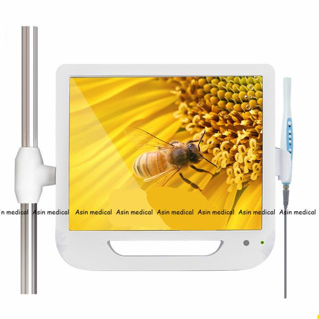 Nova Chegada 17 Polegada Monitor USB/Wifi Câmera Dental Câmera Intraoral Endoscópio Endoscópio Camera 6 Led Luz Dental Dentista