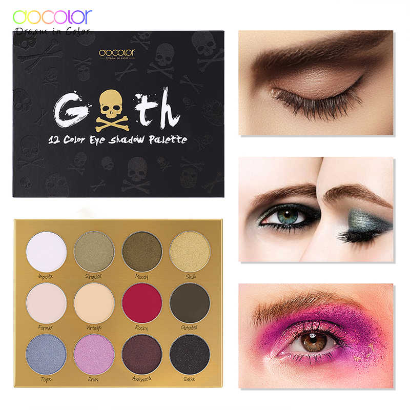 2f9f13afeca8 Docolor 12 Colors Eye Shadow Palette Natural Shimmer Matte Eyeshadow ...