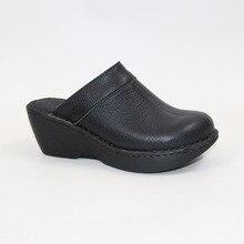 Dép Da Thoải Mái Giày Sandal Nữ Slippershigh Gót Muller Dép