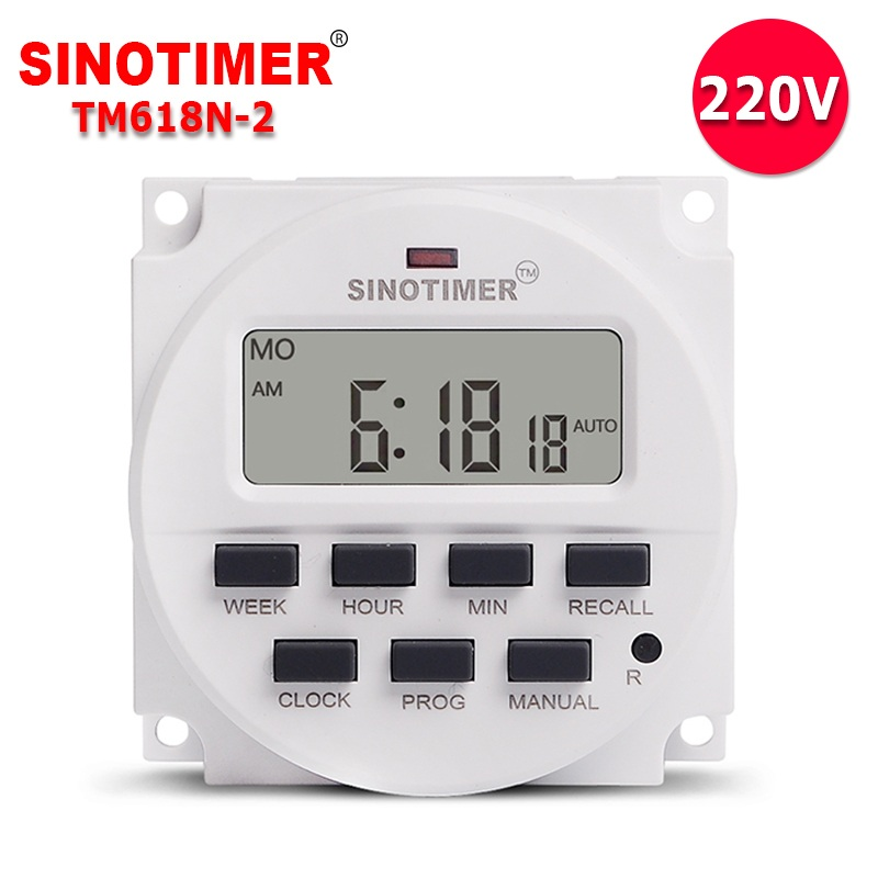 Sinotimer Tm616b-2 30a 220v Electronic Weekly Programmable Digital Time Switch Relay Timer Control Timer Din Rail Mount Carefully Selected Materials Measurement & Analysis Instruments