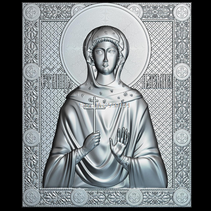 Icon of the Holy Martyr Natalia 3d model for cnc STL format Religion 3d Relief Model STL Router 3 axis Engraver ArtCam martyrs faith hope and love and their mother sophia 3d model relief figure stl format religion for cnc in stl file format