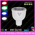 2.4G Wireless GU10 Base Mi.Light 5W RGBW or RGBWW LED Bulb Lamp AC85-265V,Color/Brightness Dimmable Adjustable & WiFi Compatible