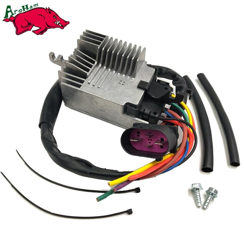 Harbll 8E0959501AG RADIATOR FAN CONTROL UNIT MODULE Compatible For AUDI A4 A4 CABRIO/8E0959501G/8E0959501K/8E0959501AB radiator cooling fan relay control module for audi a6 c6 s6 4f0959501g 4f0959501c